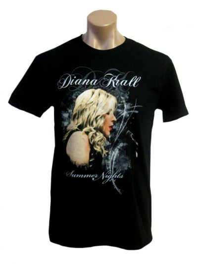 Diana Krall- Summer Nights with Title Mens Short Sleeve