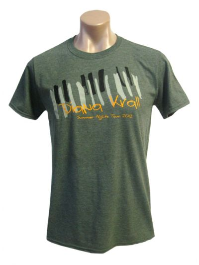 Diana Krall- Piano Keys Mens Short Sleeve T-Shirt