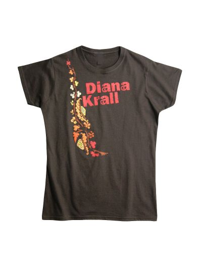 Diana Krall- Vine Art Womens T-Shirt