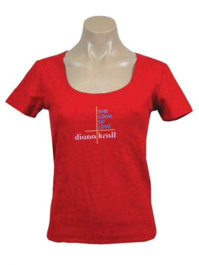 Diana Krall- Look of Love Womens Scoop Neck T-Shirt