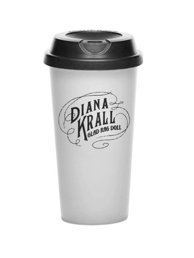 Diana Krall- Glad Rag Doll 16 oz. Travel Tumbler-WHT